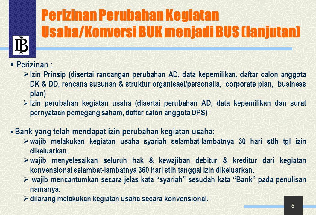 Perizinan Perubahan Kegiatan Usaha/Konversi BUK menjadi BUS (lanjutan)
