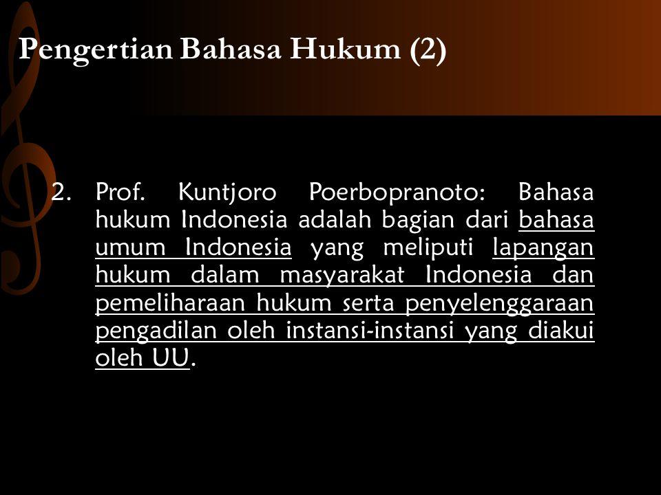Pengertian Bahasa Hukum (2)