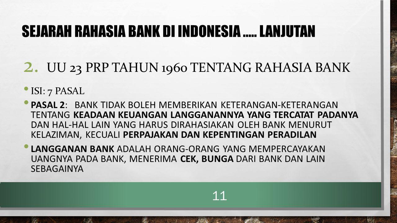 SEJARAH RAHASIA BANK DI INDONESIA ..... lanjutan