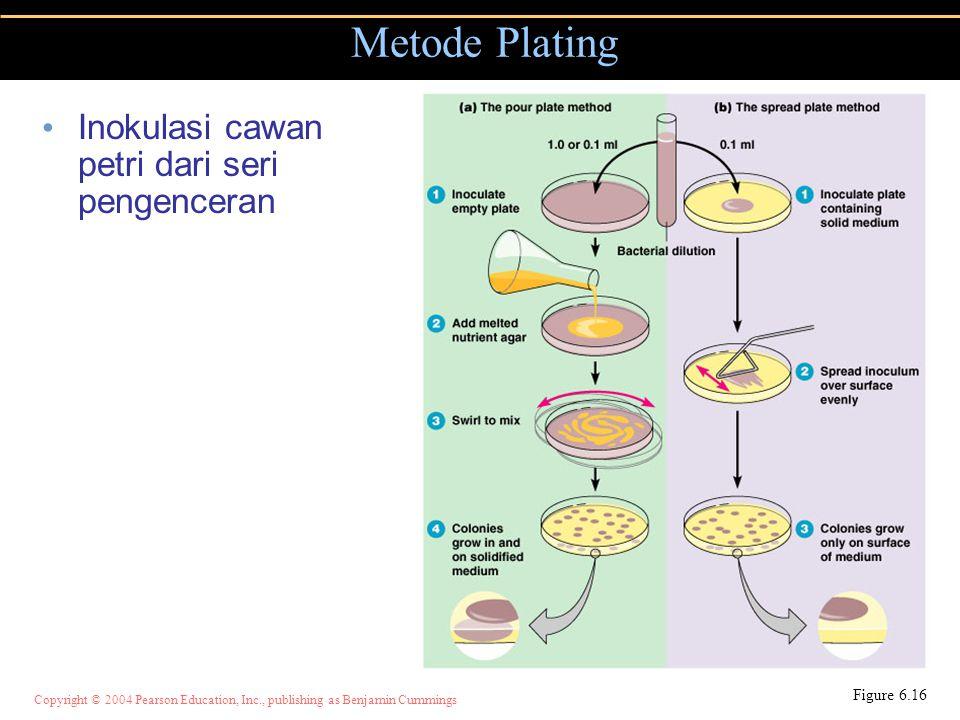 Metode Plating Inokulasi cawan petri dari seri pengenceran Figure 6.16