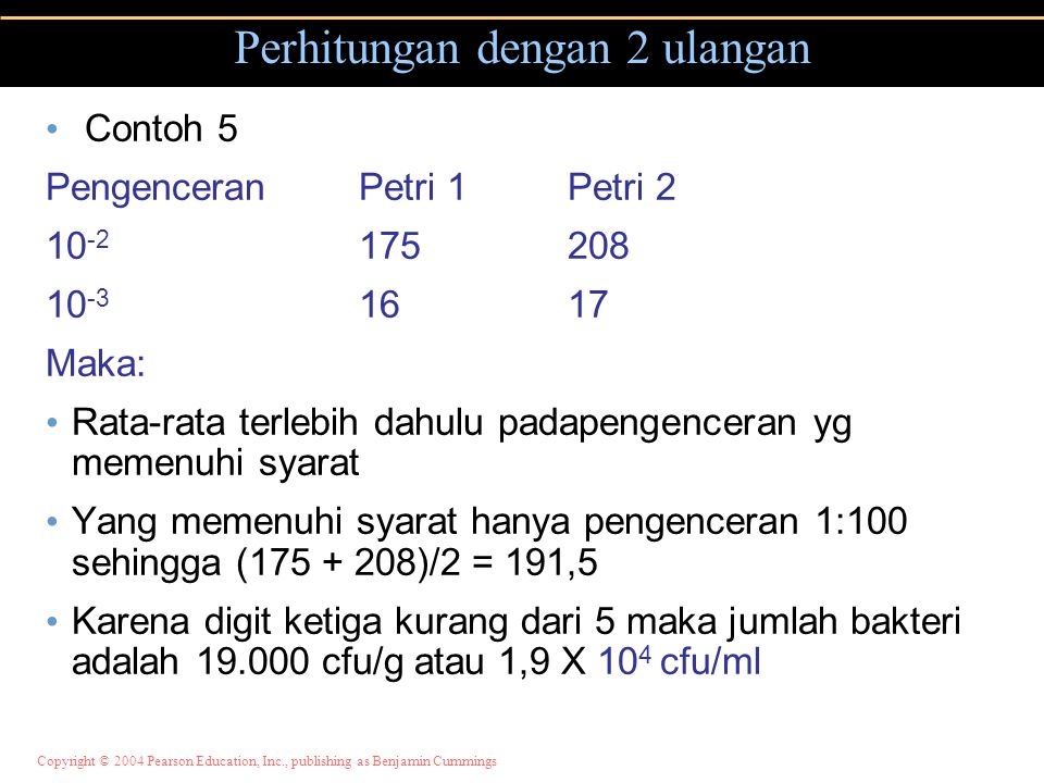 Perhitungan dengan 2 ulangan