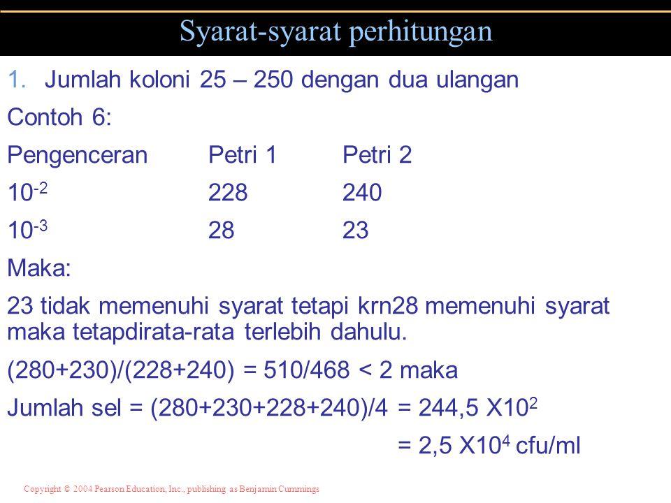 Syarat-syarat perhitungan