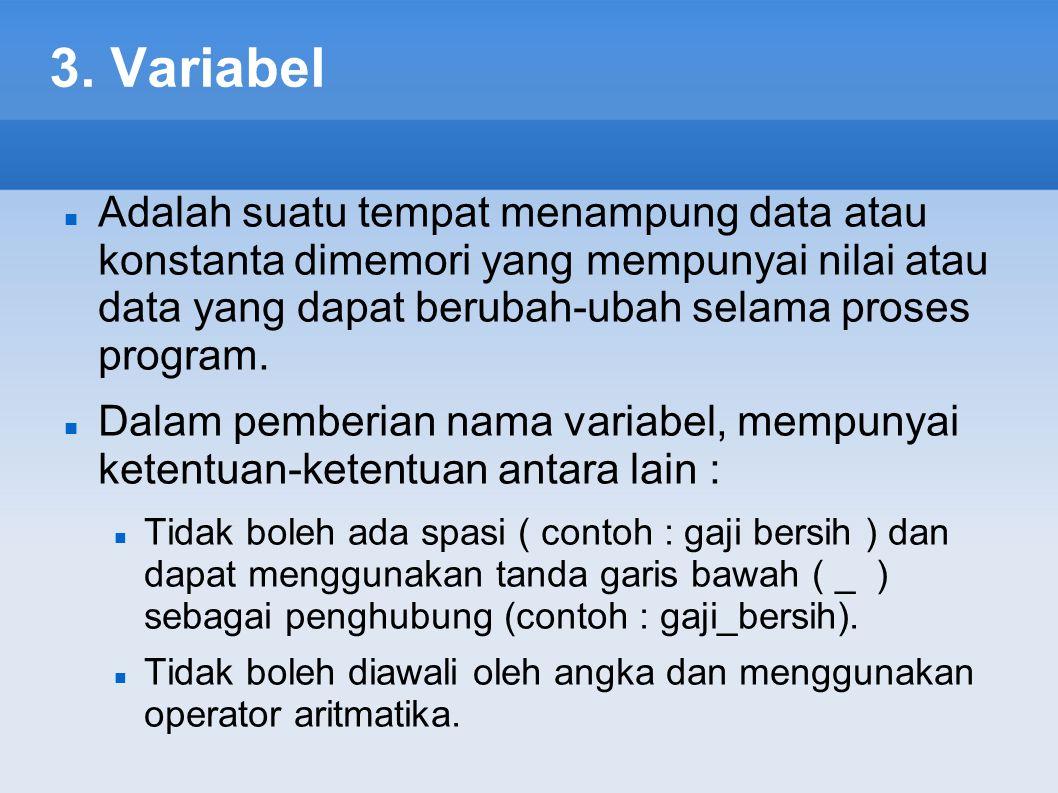 3. Variabel