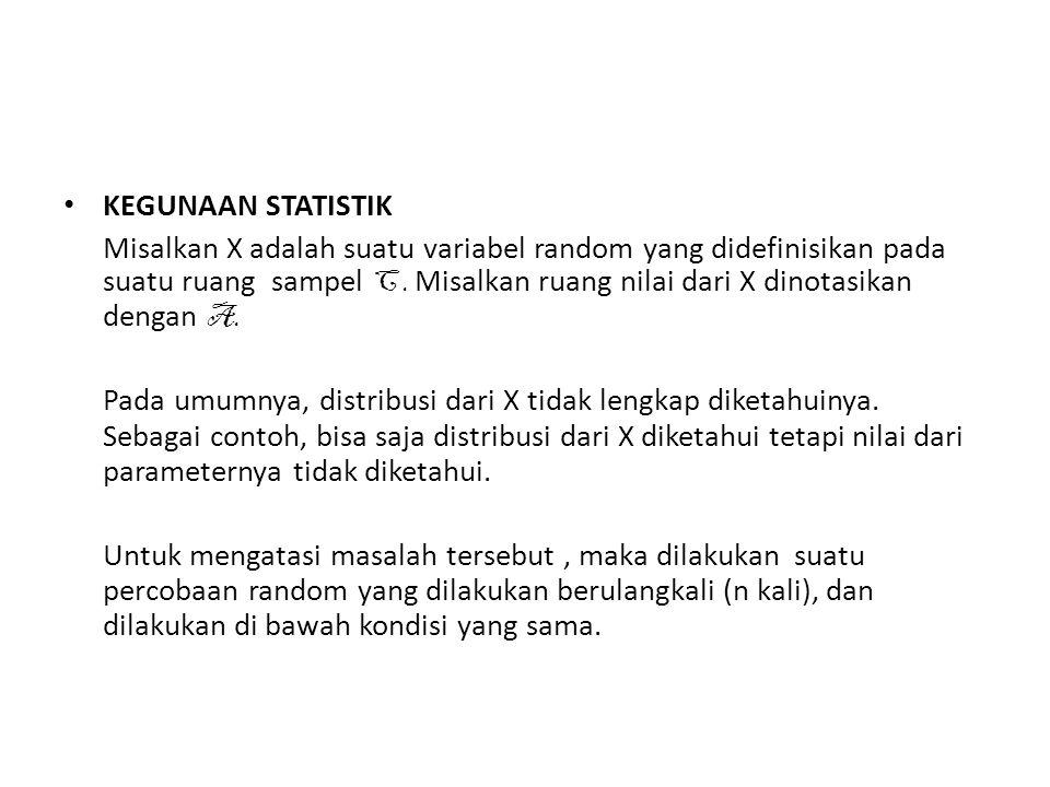 KEGUNAAN STATISTIK