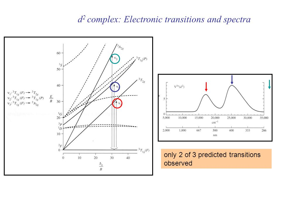 d2 complex: Electronic transitions and spectra