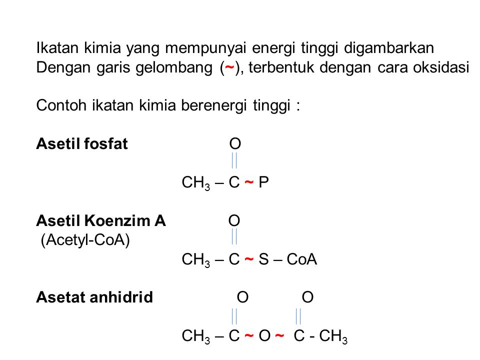 Ikatan kimia yang mempunyai energi tinggi digambarkan