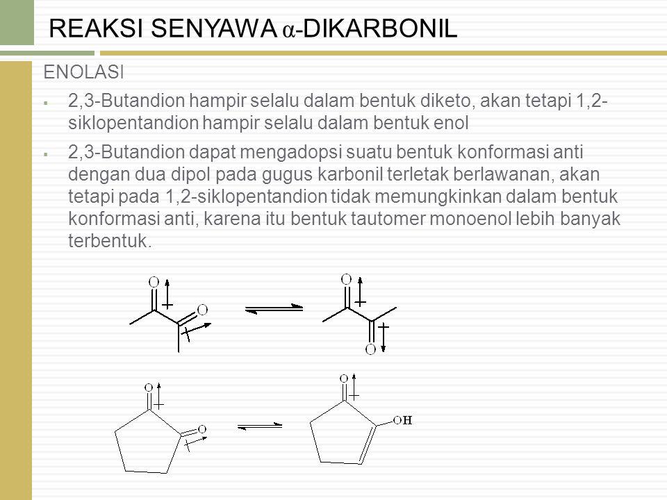 REAKSI SENYAWA α-DIKARBONIL