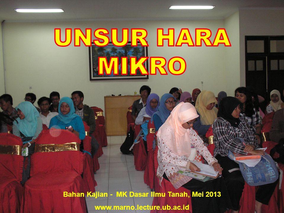 Bahan Kajian - MK Dasar Ilmu Tanah, Mei 2013