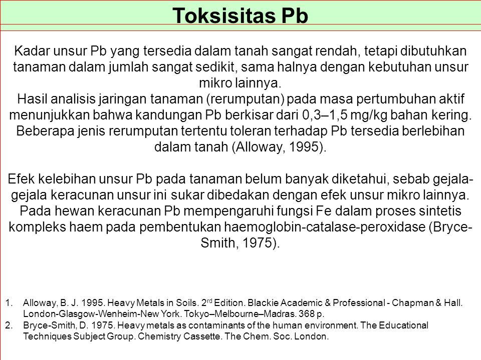 Toksisitas Pb