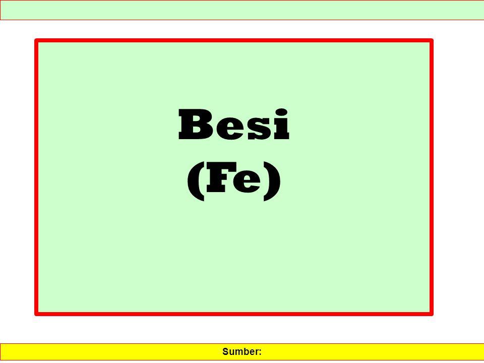 Besi (Fe) Sumber: