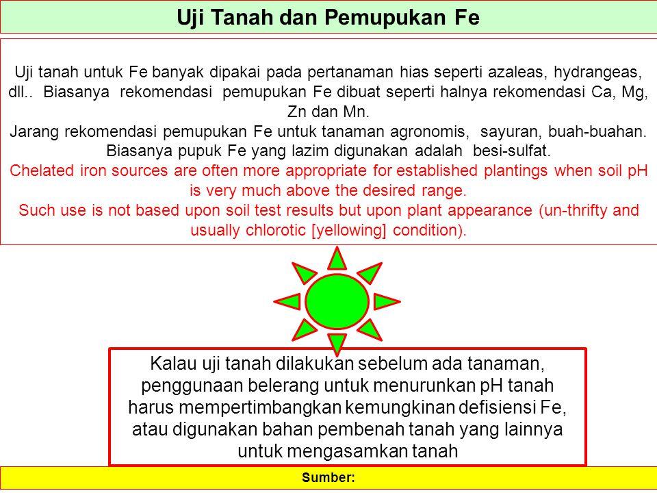 Uji Tanah dan Pemupukan Fe