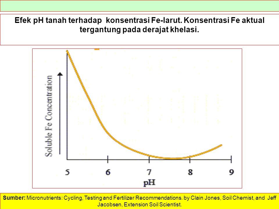 Efek pH tanah terhadap konsentrasi Fe-larut