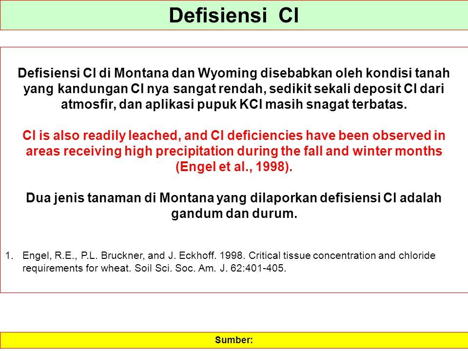 Defisiensi Cl