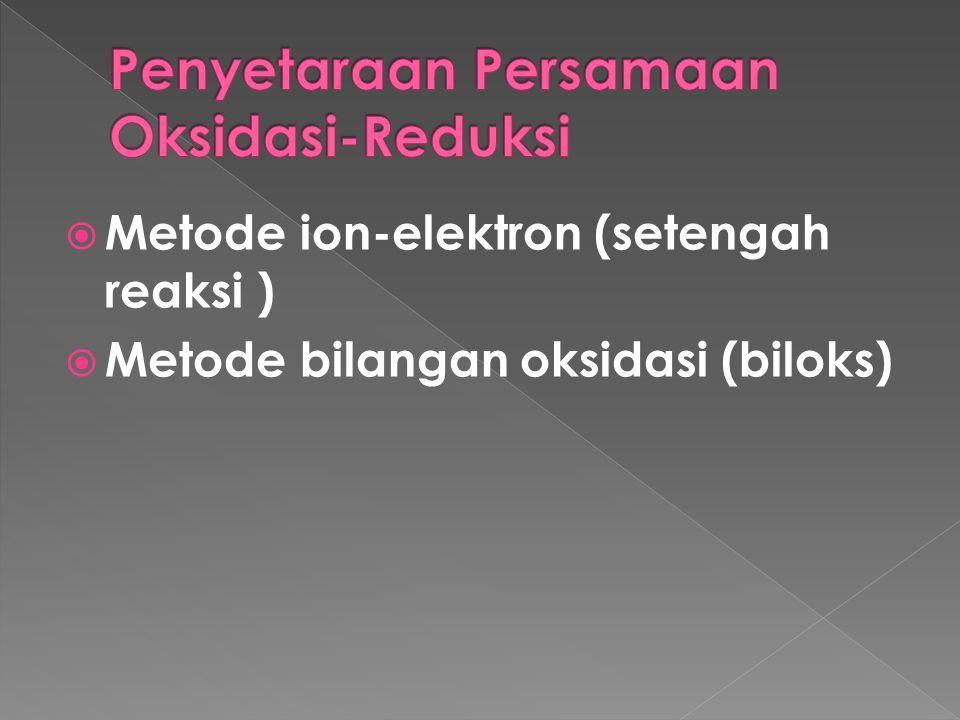 Penyetaraan Persamaan Oksidasi-Reduksi