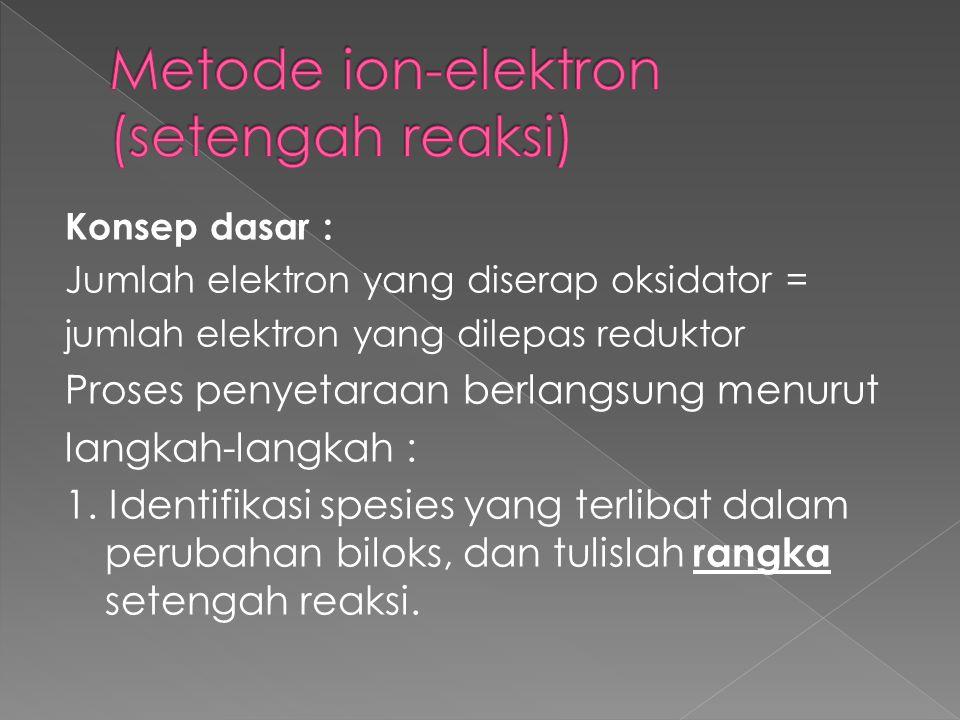 Metode ion-elektron (setengah reaksi)