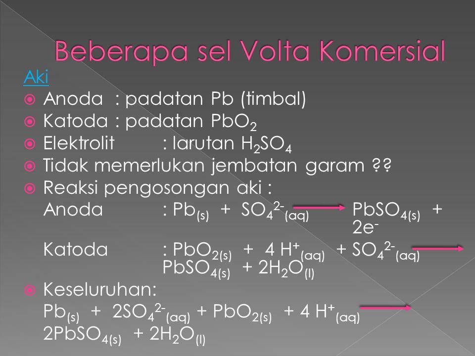 Beberapa sel Volta Komersial