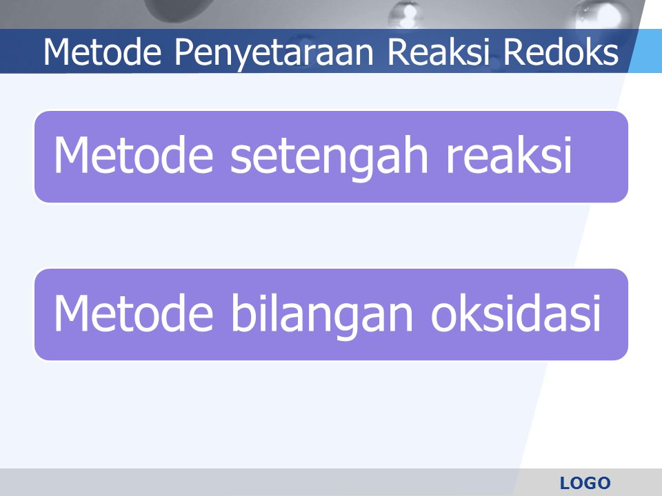 Metode Penyetaraan Reaksi Redoks