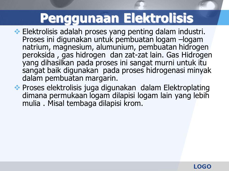 Penggunaan Elektrolisis