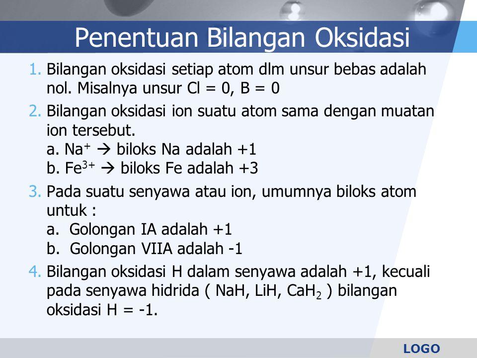 Penentuan Bilangan Oksidasi