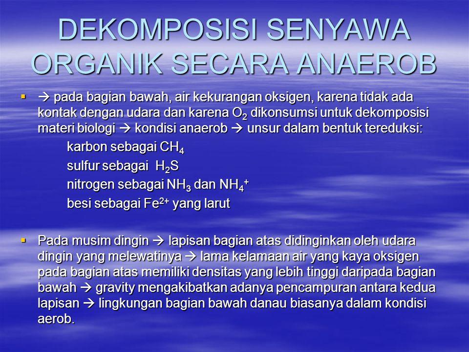 DEKOMPOSISI SENYAWA ORGANIK SECARA ANAEROB