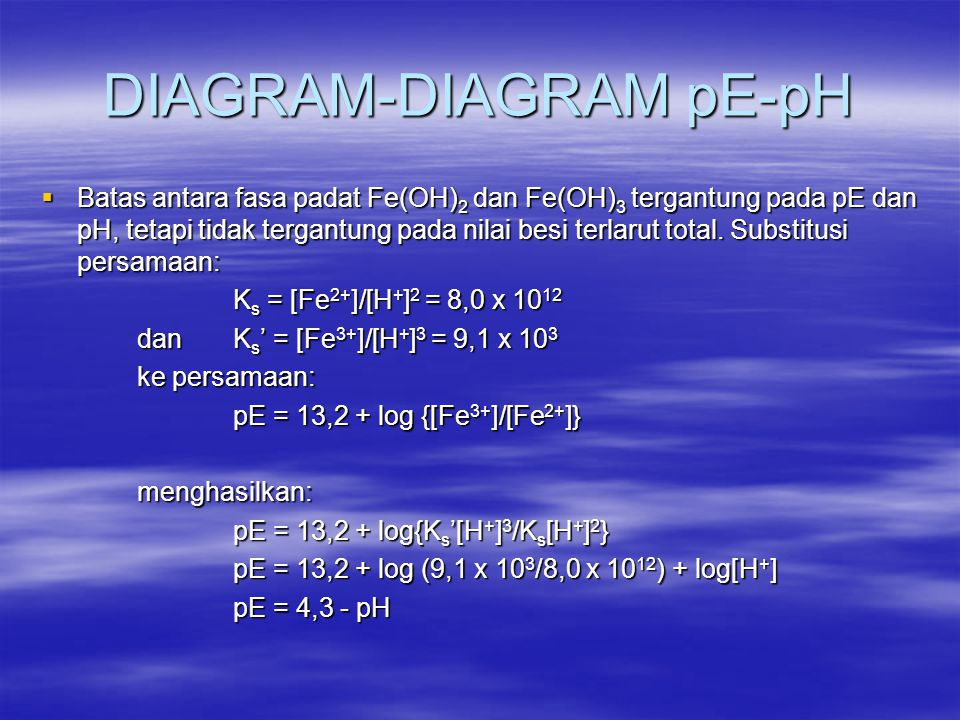 DIAGRAM-DIAGRAM pE-pH