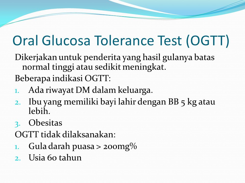 Oral Glucosa Tolerance Test (OGTT)