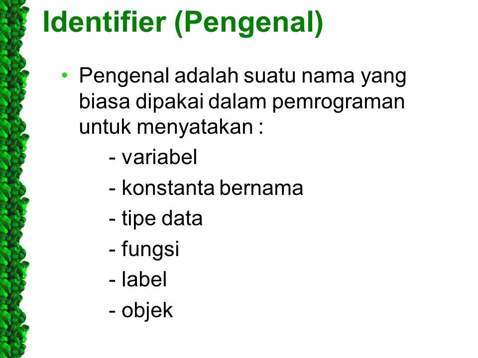 Identifier (Pengenal)