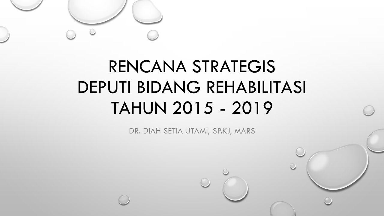 Rencana Strategis Deputi Bidang Rehabilitasi Tahun 2015 - 2019