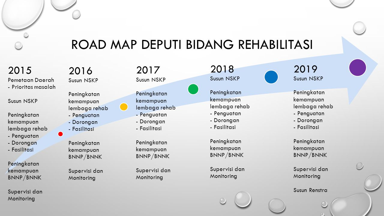 Road Map Deputi Bidang Rehabilitasi