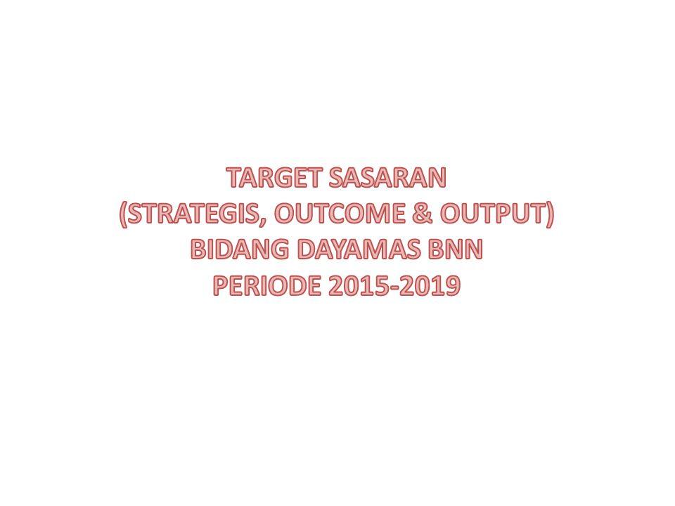 TARGET SASARAN (STRATEGIS, OUTCOME & OUTPUT) BIDANG DAYAMAS BNN PERIODE 2015-2019
