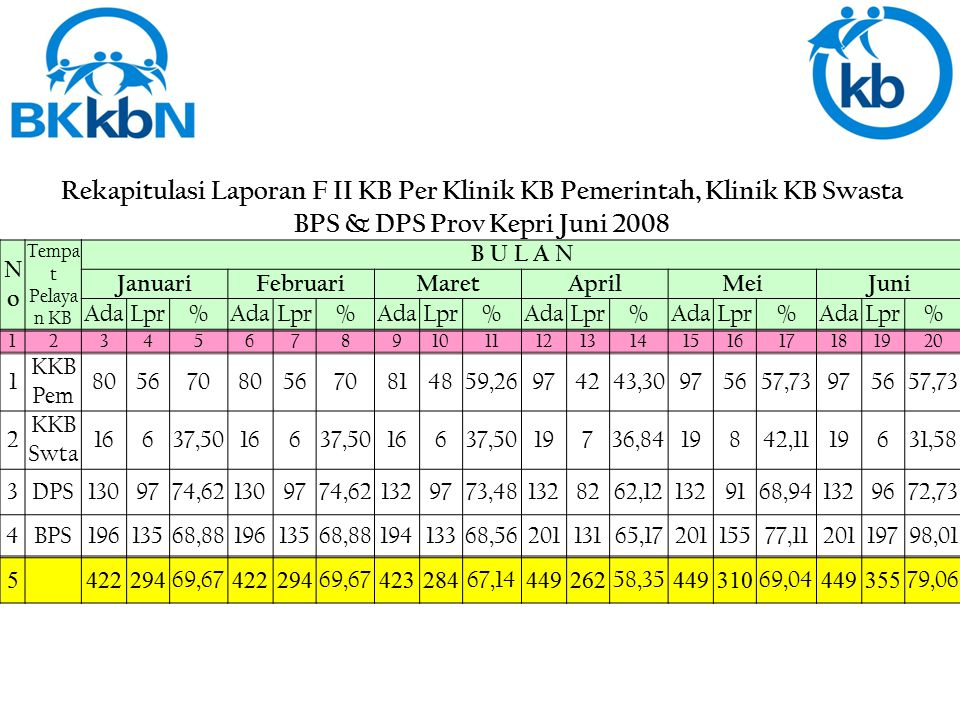 BPS & DPS Prov Kepri Juni 2008