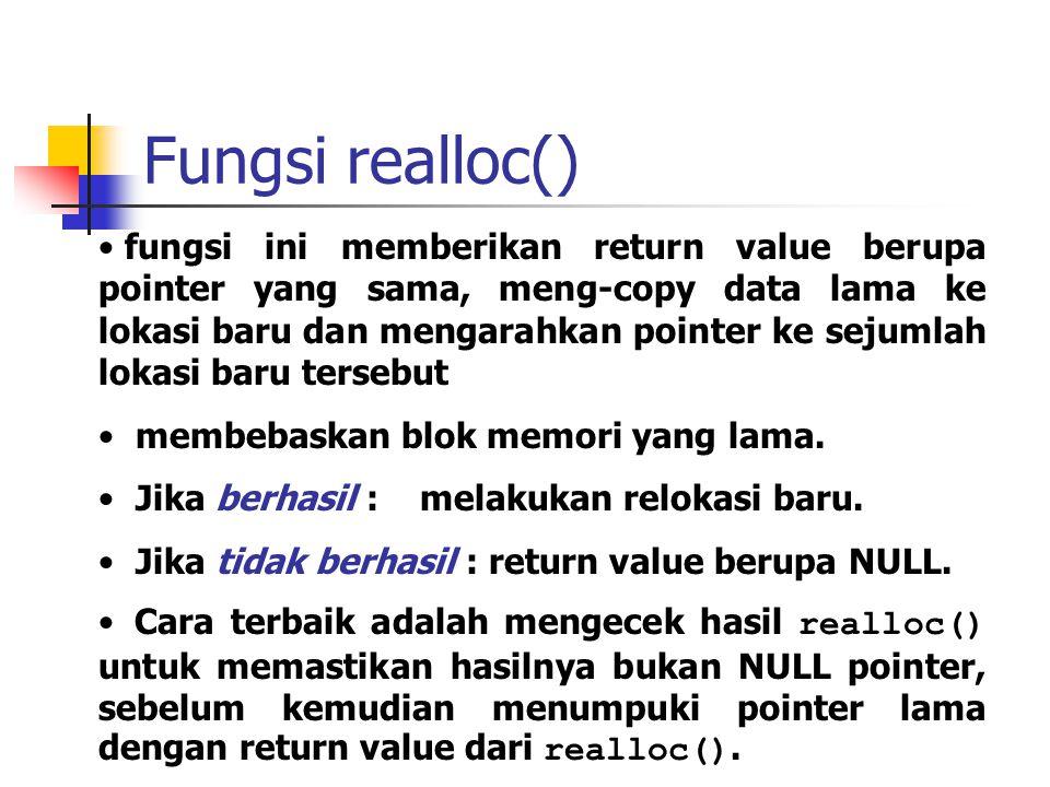 Fungsi realloc()