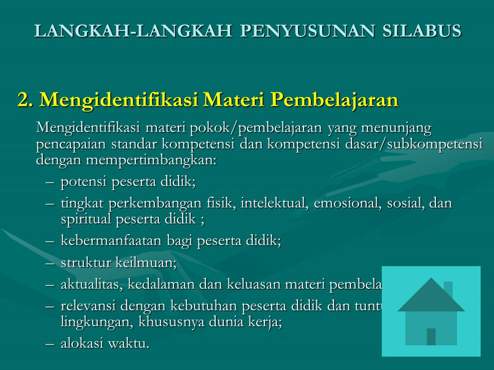 2. Mengidentifikasi Materi Pembelajaran