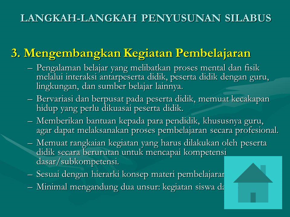 3. Mengembangkan Kegiatan Pembelajaran
