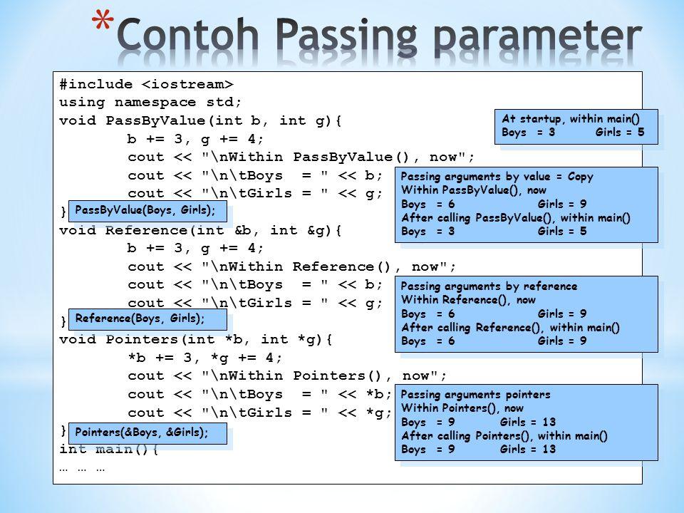 Contoh Passing parameter