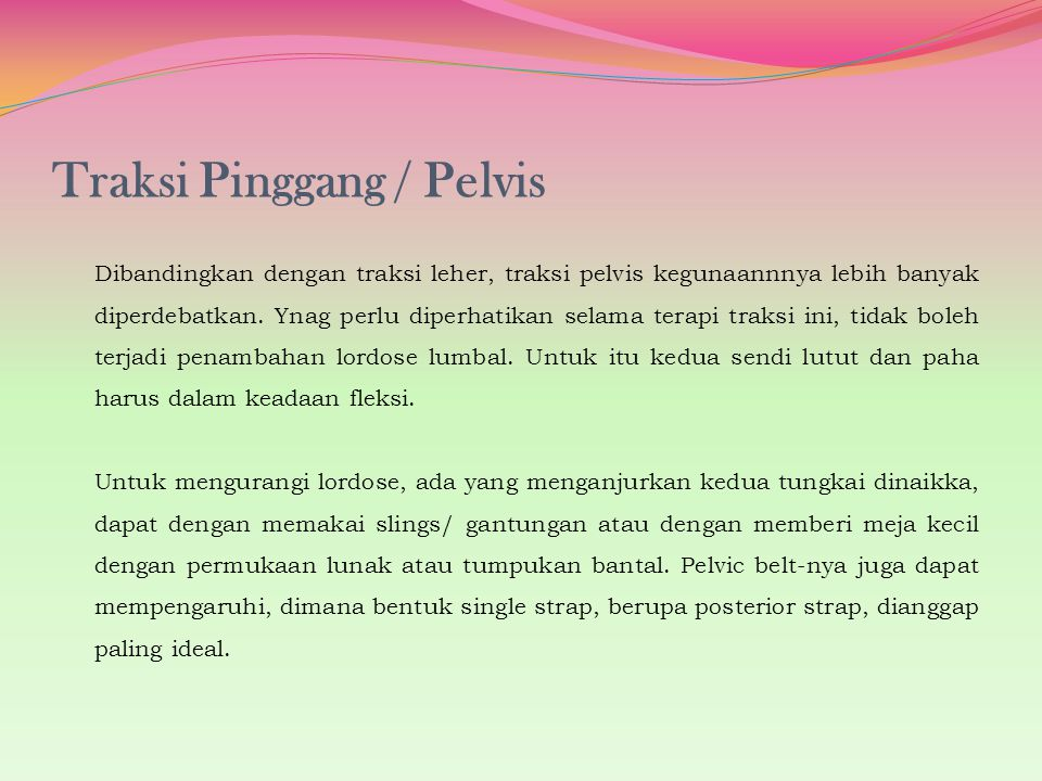 Traksi Pinggang / Pelvis