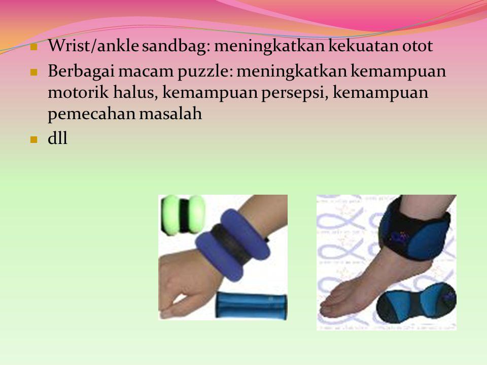 Wrist/ankle sandbag: meningkatkan kekuatan otot