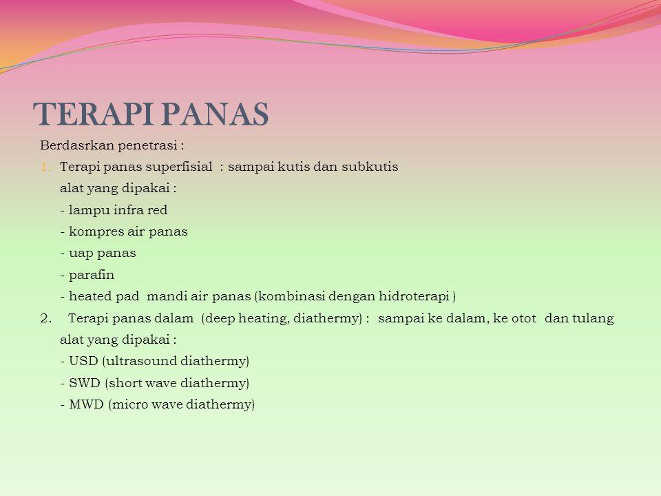 TERAPI PANAS Berdasrkan penetrasi :