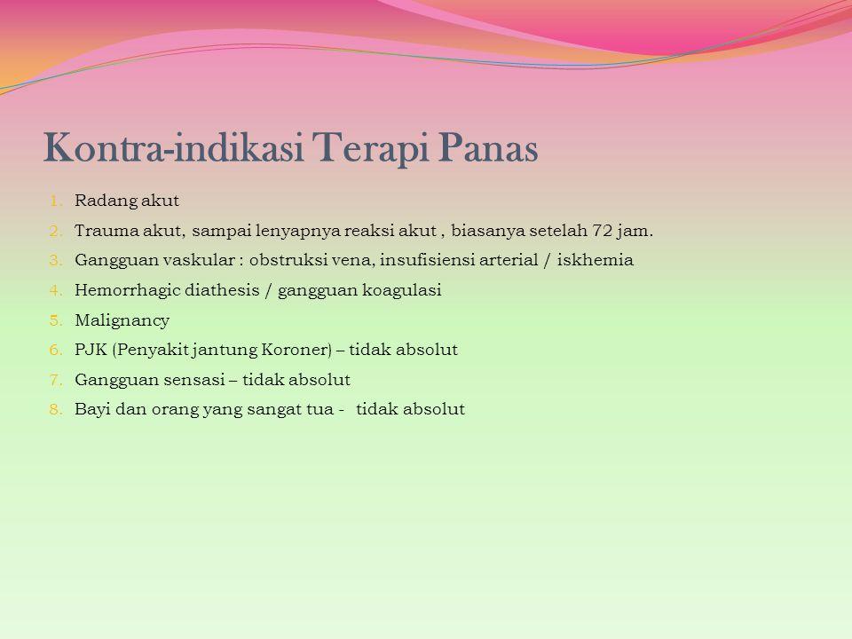 Kontra-indikasi Terapi Panas