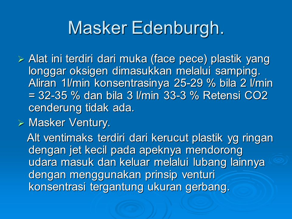 Masker Edenburgh.