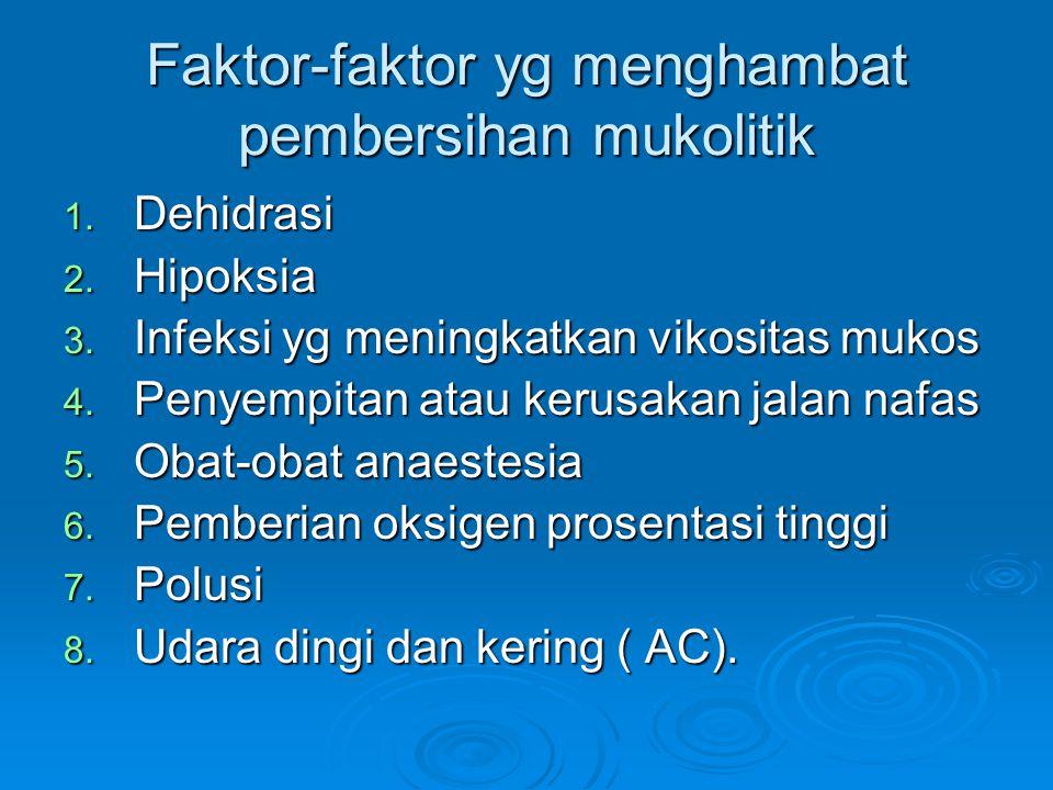 Faktor-faktor yg menghambat pembersihan mukolitik