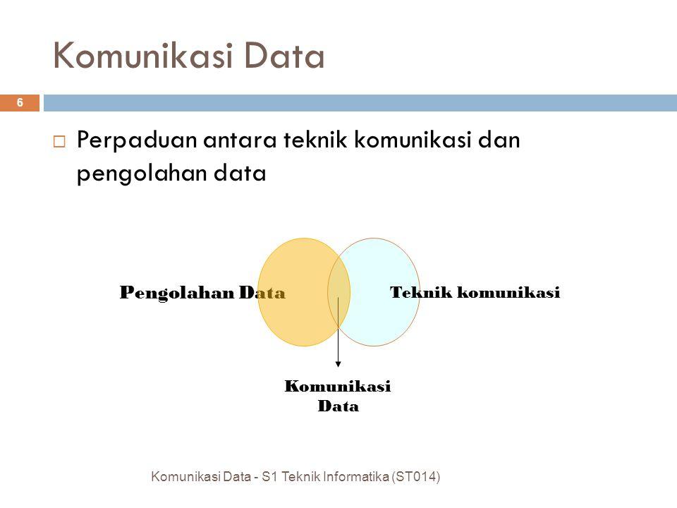 Komunikasi Data Perpaduan antara teknik komunikasi dan pengolahan data