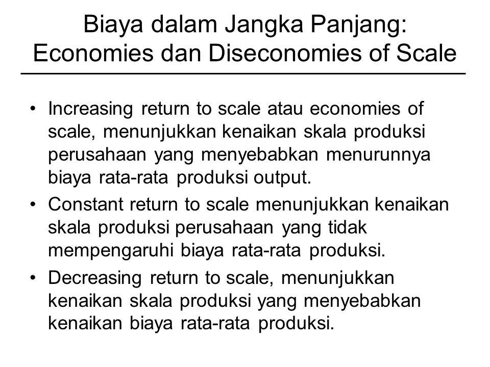 Biaya dalam Jangka Panjang: Economies dan Diseconomies of Scale
