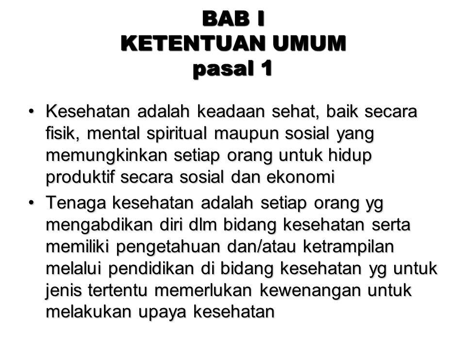 BAB I KETENTUAN UMUM pasal 1