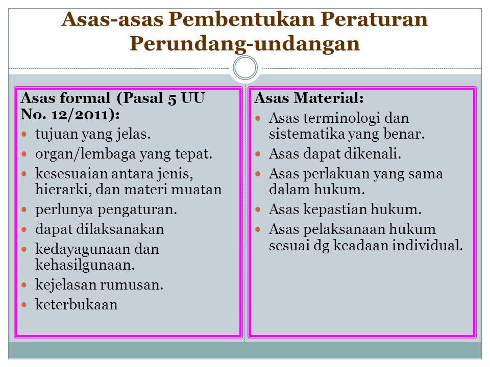 Asas-asas Pembentukan Peraturan Perundang-undangan