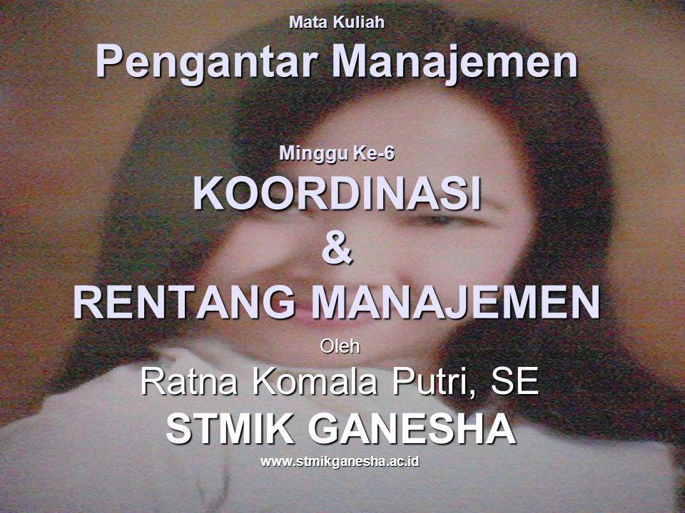 Oleh Ratna Komala Putri, SE STMIK GANESHA www.stmikganesha.ac.id