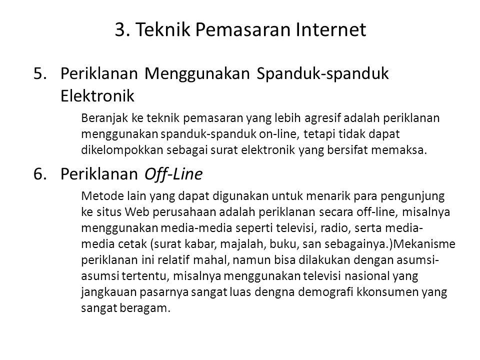3. Teknik Pemasaran Internet