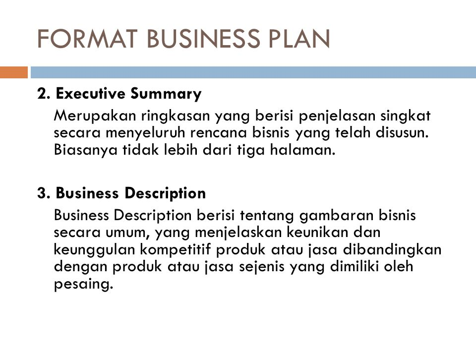 format of a business research paper