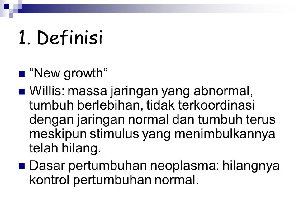 1. Definisi New growth