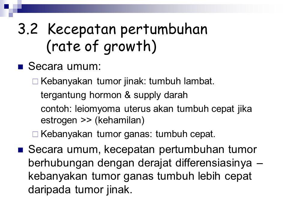 3.2 Kecepatan pertumbuhan (rate of growth)